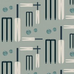Cricket Grey-Green Wallpaper