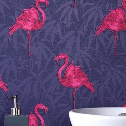 Flamingo Purple Wallpaper