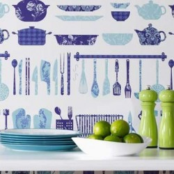 Making A Crockery Blue Wallpaper