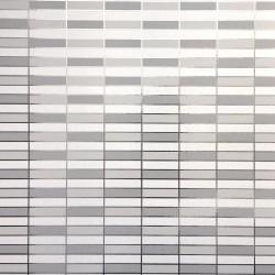 Soda Metallic Silver & White Wallpaper