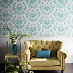 Bijoux Teal Wallpaper