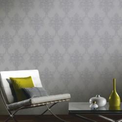 Ravelle Silver Wallpaper