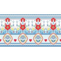 Lace Blue Border