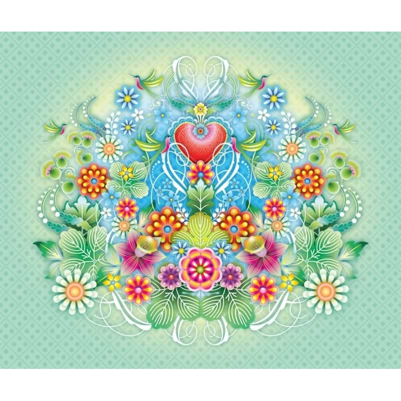 Heart flowers mural 1280203 for Mural of flowers