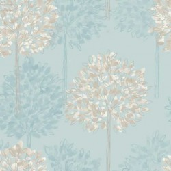 Boulevard Teal Wallpaper