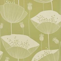Poppy Cottage Green Wallpaper