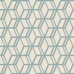 Ling Cream & Light Blue Wallpaper