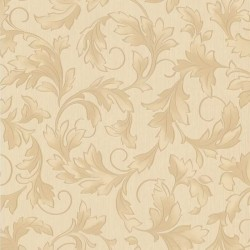 Charmed Cream & Gold & Beige Wallpaper