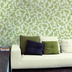 Charmed Green & Cream Wallpaper
