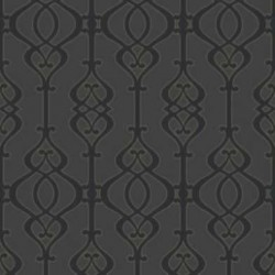 Balustrade Slate Black Wallpaper
