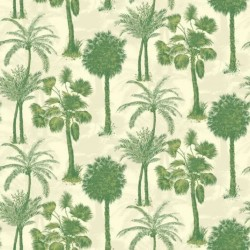 Coconut Grove Emerald Wallpaper