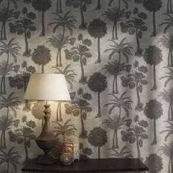 Coconut Grove Feather Wallpaper