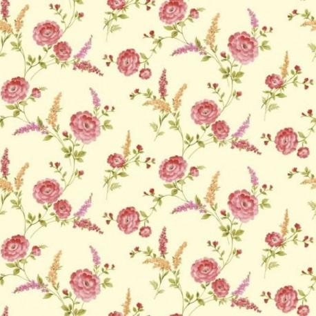 Posie Crimson Wallpaper