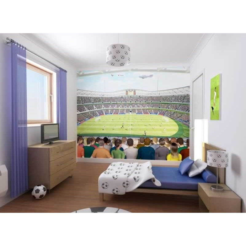 Walltastic Graffiti Wallpaper Mural: Walltastic Football Crazy Wall Mural, Wall Murals, Kids