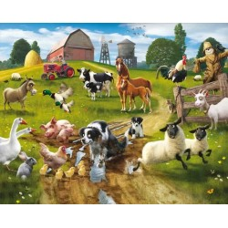 Walltastic Farmyard Fun Mural
