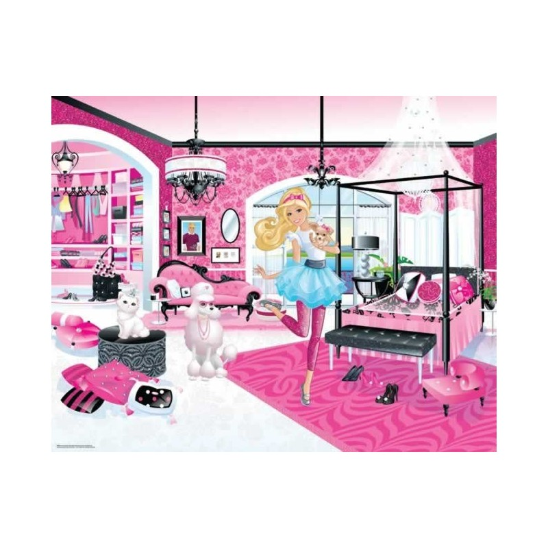 Walltastic barbie wall mural wall murals kids wall murals for Barbie wall mural