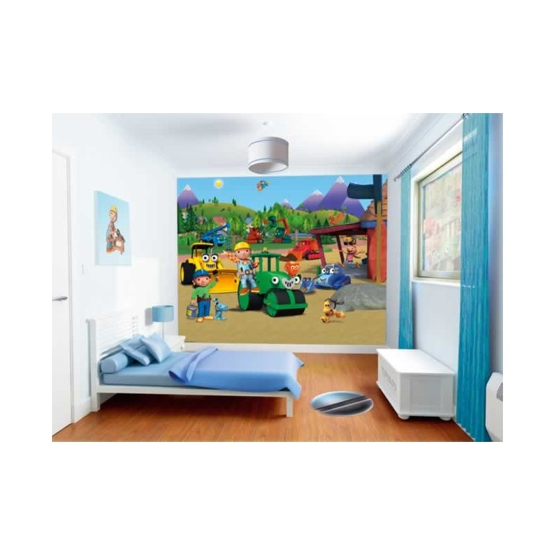 walltastic bob the builder wall mural kids wall murals