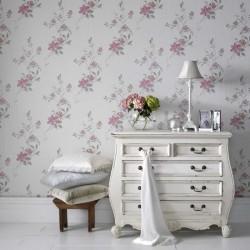 Reed Pink Wallpaper
