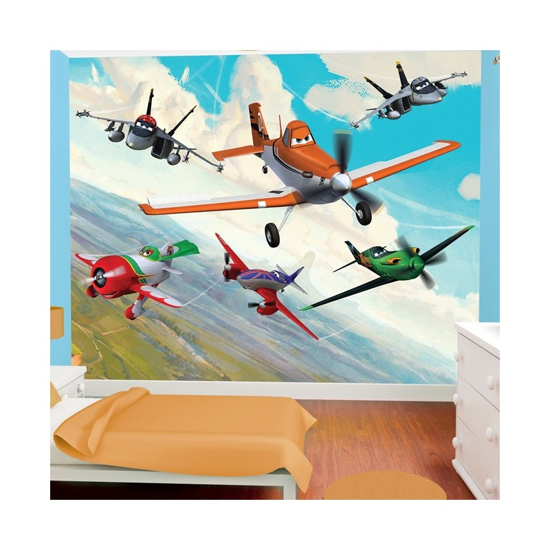 Walltastic disney planes 41417 wall mural disney wall mural for Disney planes wallpaper mural