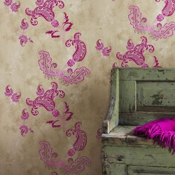 Paisley Pink Wallpaper