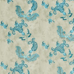 Paisley Turquoise Wallpaper