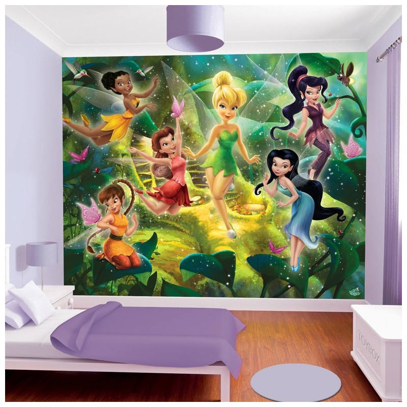 Walltastic disney fairies 41325 wall mural disney wall mural for Fairies wall mural