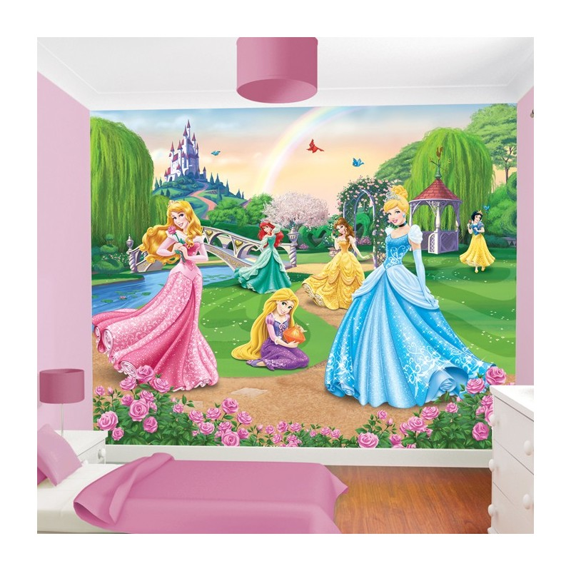 Walltastic disney princess wall mural 41318 wall mural for Disney princess wall mural