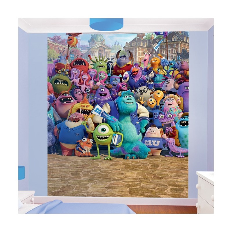 Walltastic disney monsters university mural wall murals for Disney wall mural uk