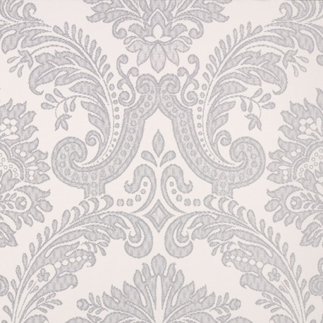 Equus white grey damask 25002 for Grey and white wallpaper