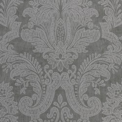 Equus Silver on Graphite Grey Wallpaper