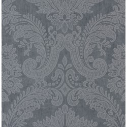 Equus Silver on Midnight Blue Wallpaper