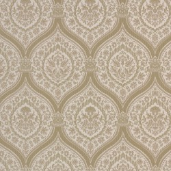 Otoman Golden Bronze on Cream Wallpaper
