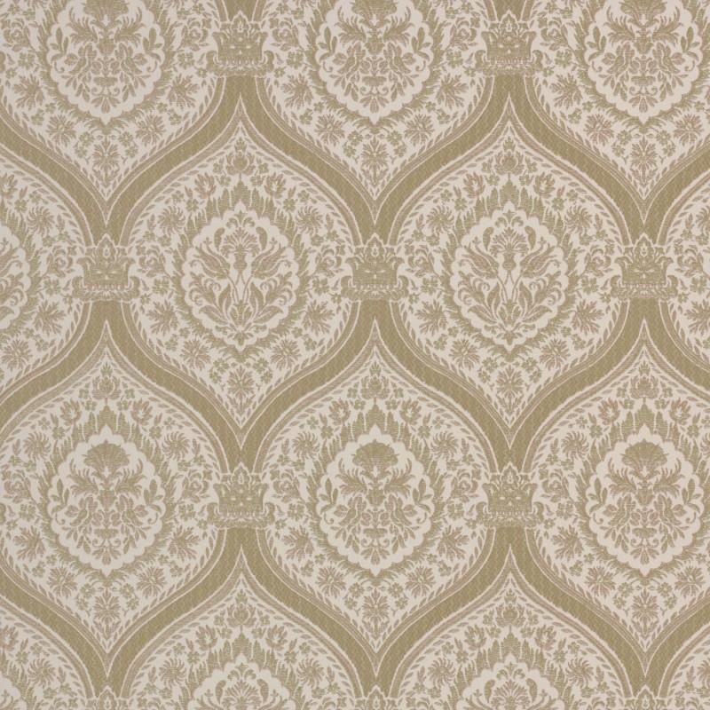Cream Wallpaper: Otoman Golden Bronze On Cream-25204