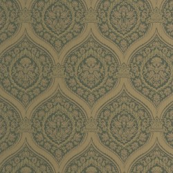 Otoman Golden Bronze on Dark Green Wallpaper