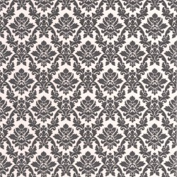 Damask Black Wallpaper