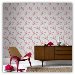 Jocelyn Summer Pink Red Wallpaper