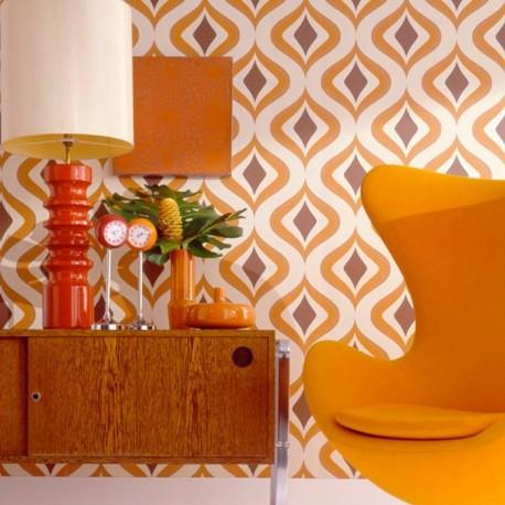 Trippy Orange 15195 Wallpaper Retro Wallpaper Trippy