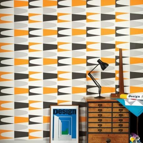 carnival orange 50 592 wallpaper retro wallpaper wayne. Black Bedroom Furniture Sets. Home Design Ideas