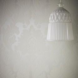 Majestic White & Cream Wallpaper