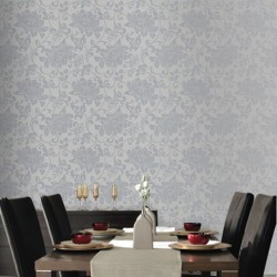 Jacquard Floral Wallpaper