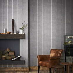 Prairie Grey Silver Wallpaper