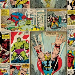 Vintage Marvel Comic Strip Wallpaper