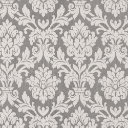 Beaune Black and White Damask