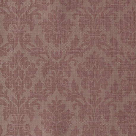 Beaune Rouge Damask Wallpaper