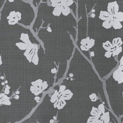 Corcelle Graphite Grey Floral Wallpaper