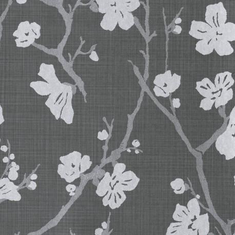 Corcelle Graphite Grey Floral Wallpaper