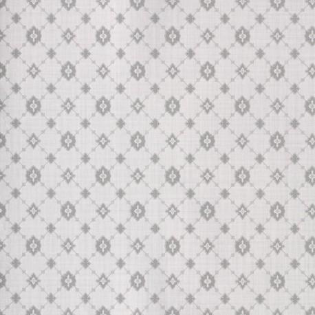 Toison Argent Grey Trellis Wallpaper
