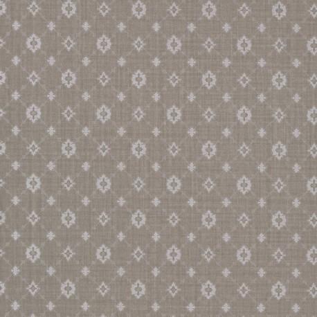 Toison Pierre Taupe Grey Trellis Wallpaper