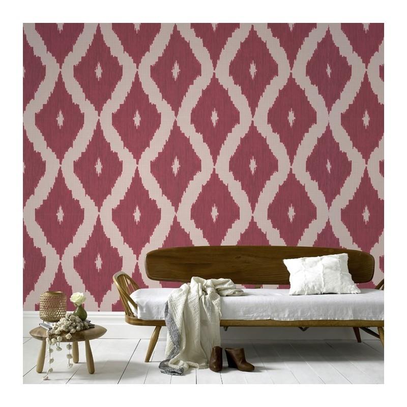 kelly hoppen ikat 32352 wallpaper red ikat wallpaper