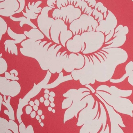 Ian Mankin Wildflower Red Floral Wallpaper Red Floral Designer Wallpaper